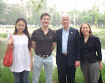 Fiona Liu, Seth Cook, Lester, and Janet in Beijing
