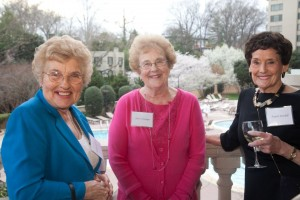 Marilyn Moreland, Gloria Ward Woehler, and Angela Kendall (International Farm Youth Exchangees)