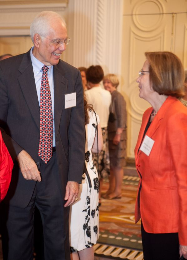 Mohamed El-Ashry and Finnish Ambassador Ritva Koukku-Ronde