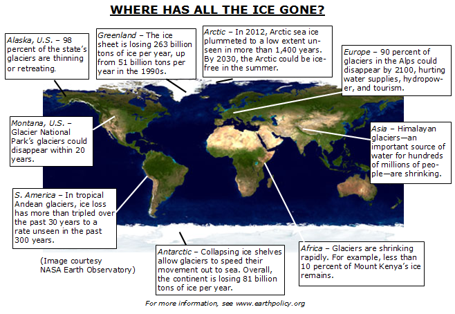 EcoEconomy Indicators Ice Melting EPI - Map reveals what the earth would look like if all the polar ice melted 2